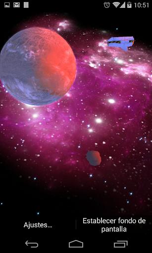 3D Galaxy Live Wallpaper 4K Full screenshot 4