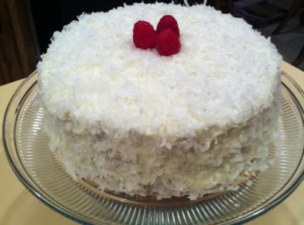 Custard Cake & Seven Minute Icing Recipe