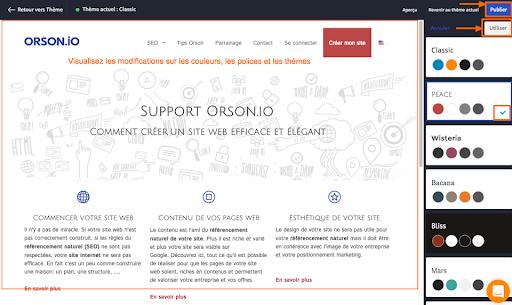 modifier le design de son site Orson