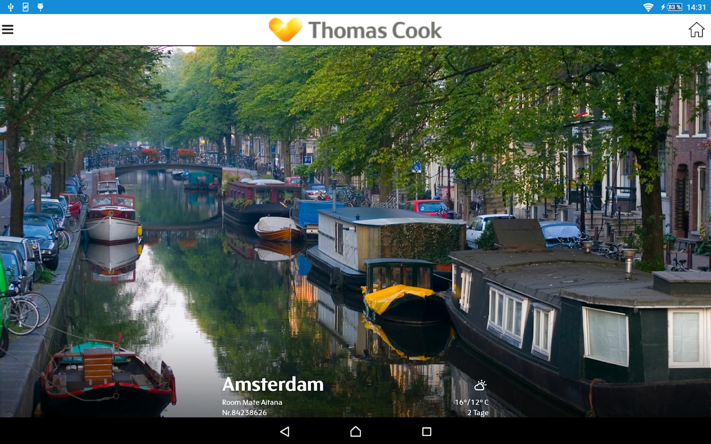 Thomas Cook Travelguide- screenshot
