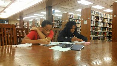 Photo: Jihad getting tutored