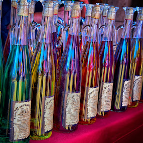 Colors by Marco Bertamé - Artistic Objects Other Objects ( range, colors, glass, bottles, row, crowded )