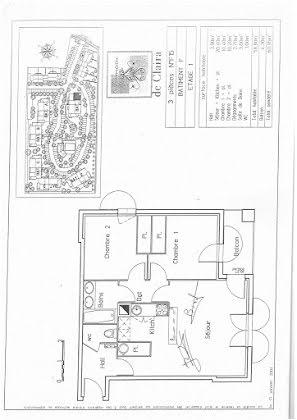Vente appartement 3 pièces 58,8 m2