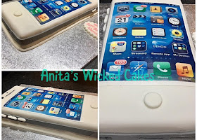 iPhone shaped cake