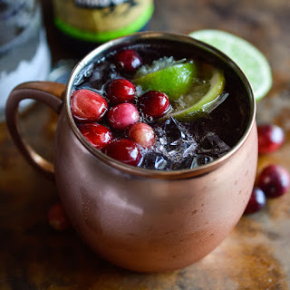 Cranberry Moscow Mule Cocktail.