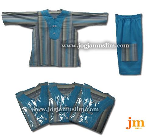Jual Murah Pakaian Muslim Ghomis Untuk Anak Motif Warna Biru