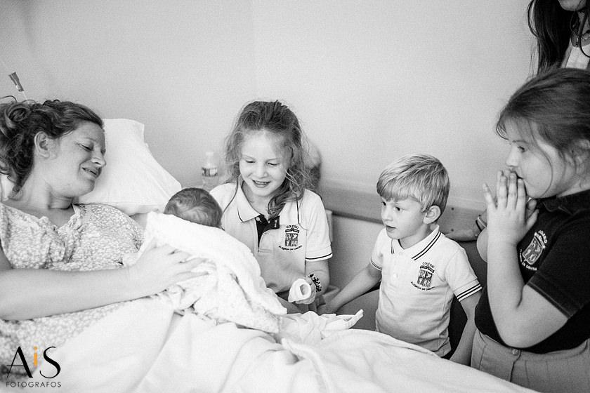 primer día de vida en hospital