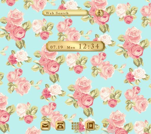 -Elegant Floral-無料着せ替えアプリ