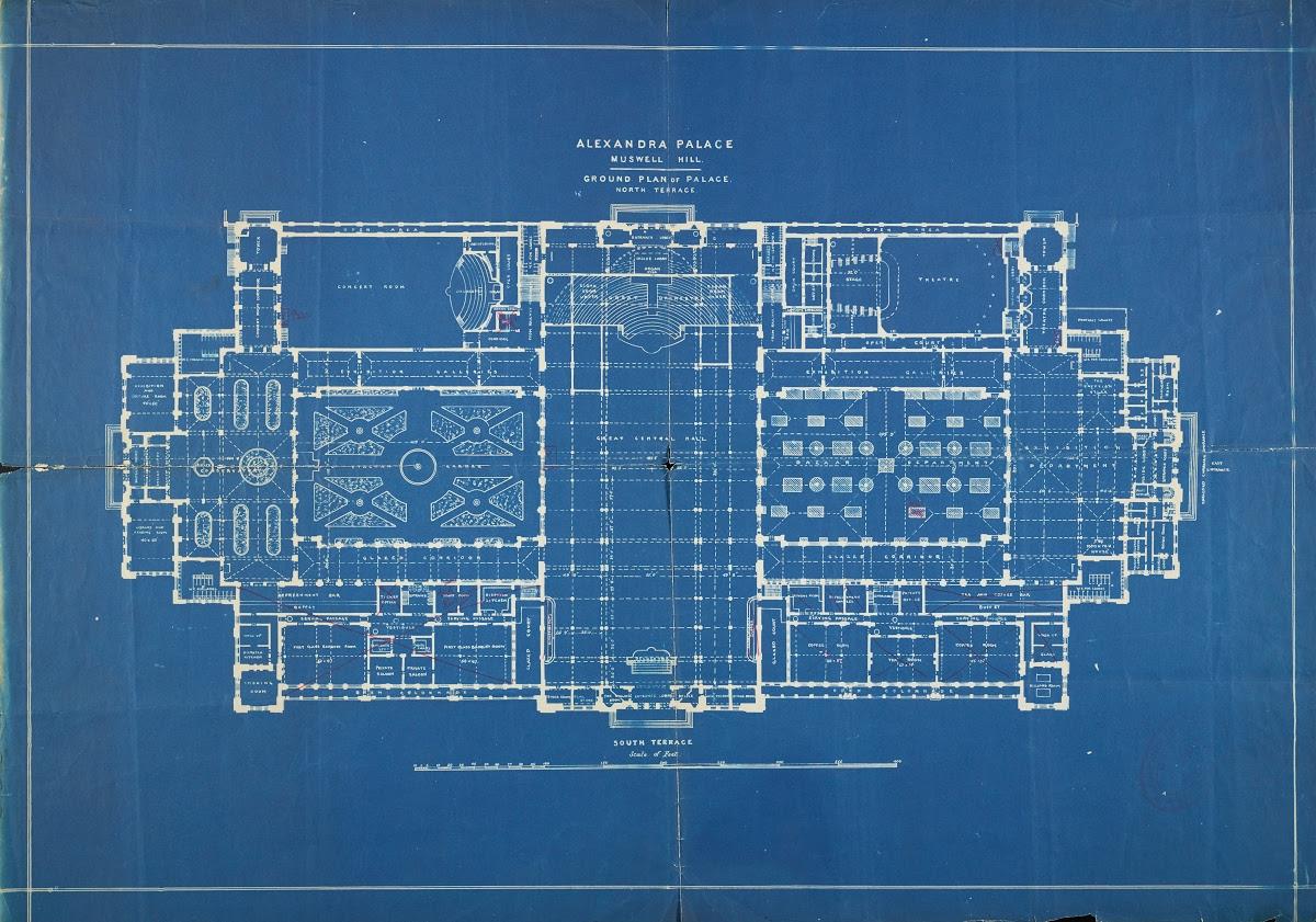 Blueprint For Alexandra Palace Google Arts Culture