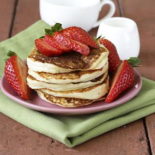Strawberries & Cream Protein Pancakes