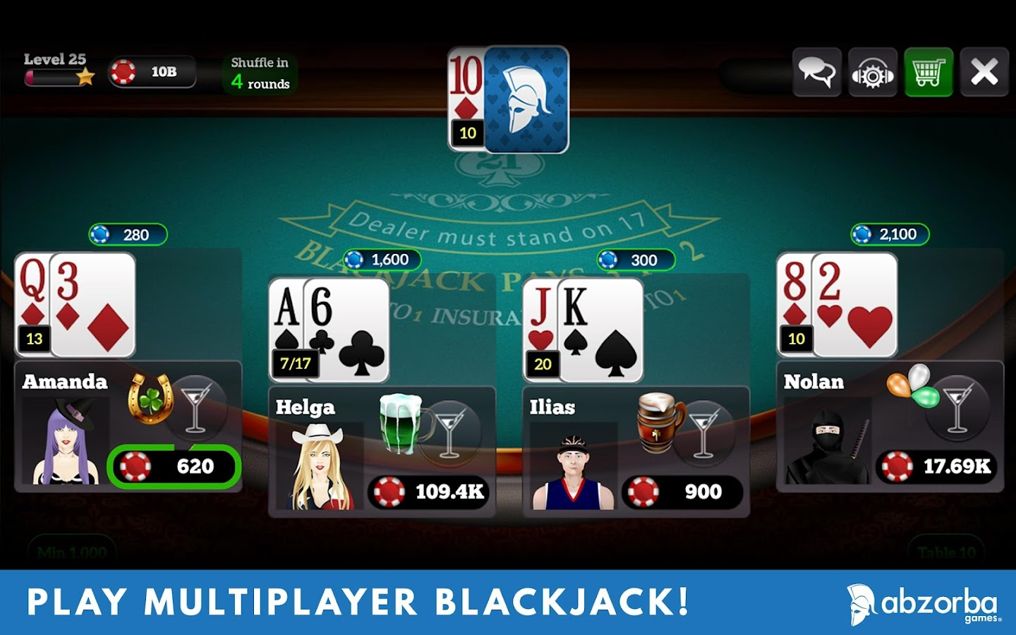 2 player blackjack games