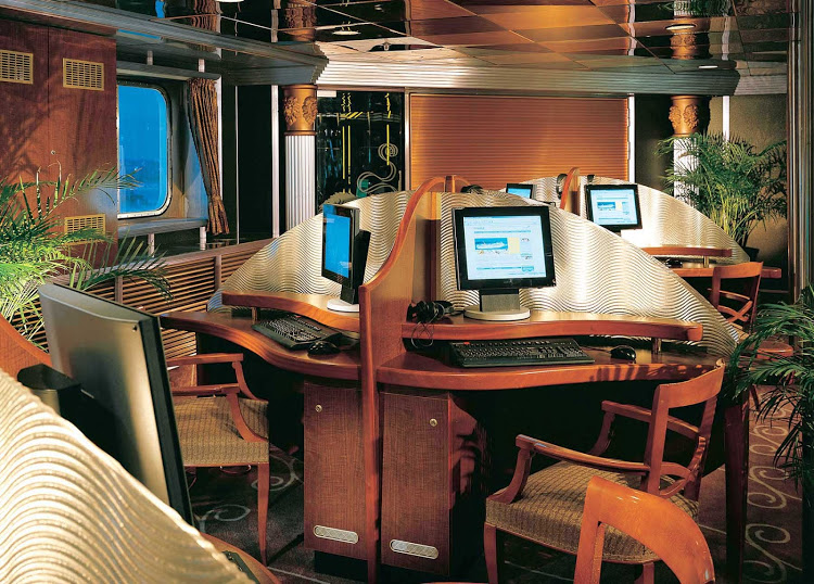 The Internet Cafe on Carnival Fascination — and dozens of other ships — may be getting faster Internet in the near future.