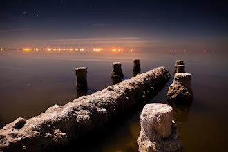 Photo: Late Nights At The Pier - Bombay Beach, CA