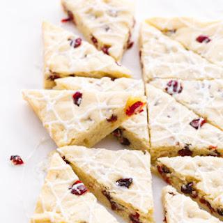 Cranberry Almond Shortbread Bars.