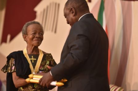 Veteran actress Mary Twala who received the Order of Ikhamanga from President Cyril Ramaphosa has died.