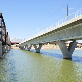 Ways to Tempe by Jo Gonzalez - Buildings & Architecture Bridges & Suspended Structures ( car, walking, tempe, railway, arizona, town,  )