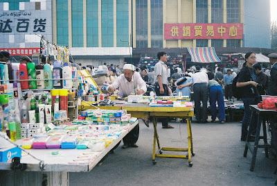 カシュガルの市場