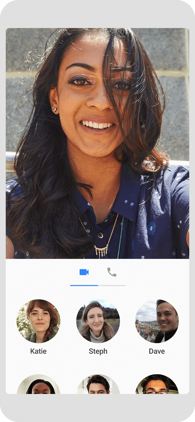 Google Duo UI