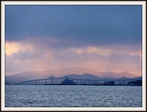 Photo: Richmond-San Rafael bridge; Red Rock in front