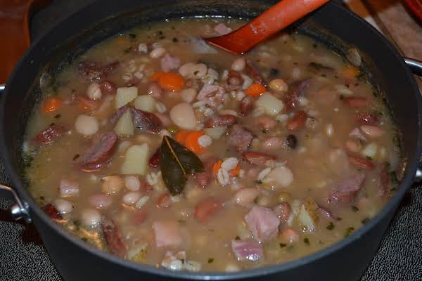 Country Ham & Bean Soup With Smoked Sausage Recipe