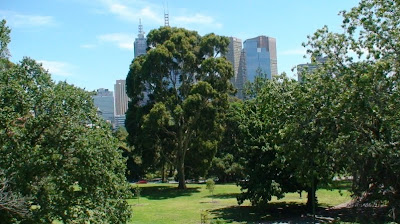 Melbourne from the Gardens
