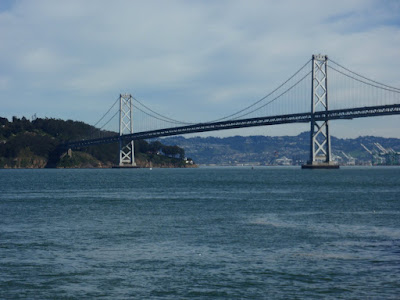 The Bay Bridge as it enters Treasure Island