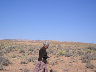 Katy, an elderly Navajo woman from Tahoma's adoptive family, pictured in Tuba City. Photo by Charnell Havens