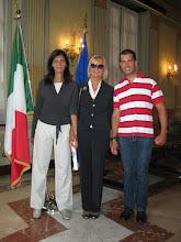Photo: L'artista Carmen Spigno con i figli Sabina e Nicola