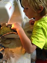Photo: kids sewing!