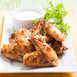 Spicy Honey Mustard Chicken Wings.
