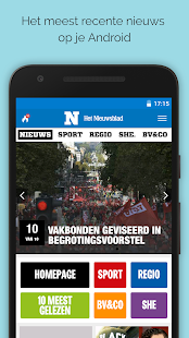 Nieuwsblad.be mobile- screenshot thumbnail