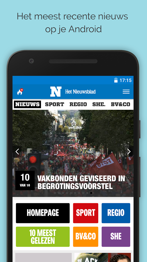 Nieuwsblad.be mobile- screenshot