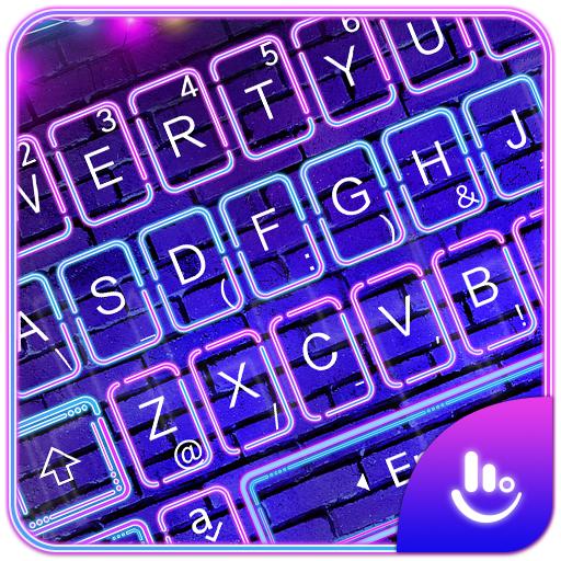 Sparkling Neon Light Keyboard Theme