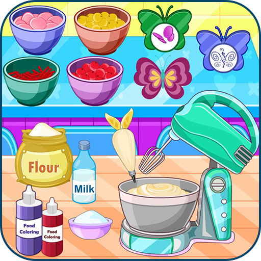 Butterfly muffins cooking game Icon