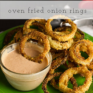 Oven-Fried Onion Rings with Comeback Sauce.