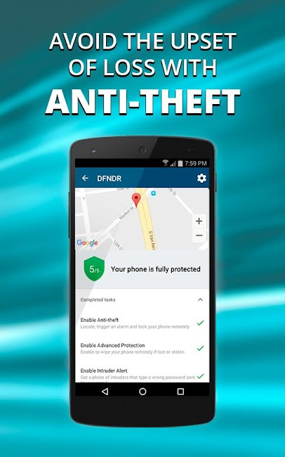 #2. DFNDR: Antivirus & Cleaner (Android)