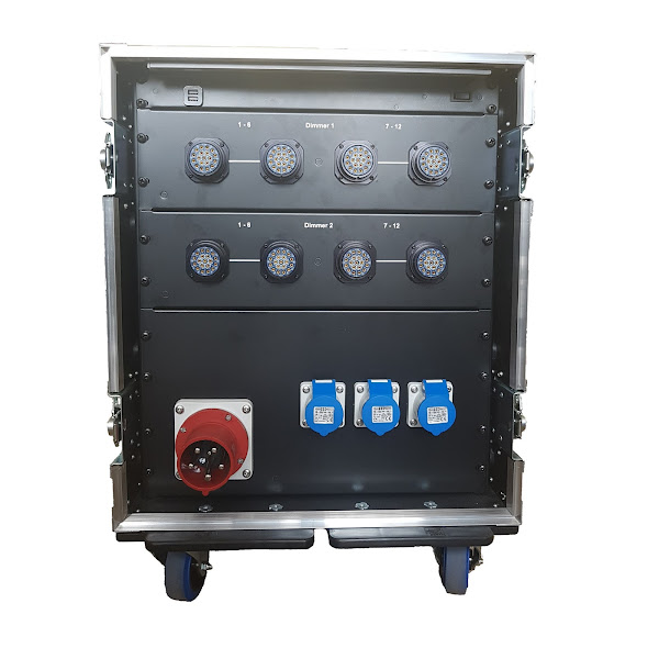 24Way LSC GenVI Dimmer Rack (no patch) rear
