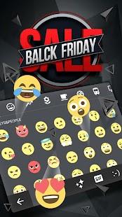 Black Friday Keyboard Theme - náhled