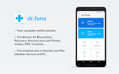 screenshot of dr.fone - Recovery & Transfer wirelessly & Backup