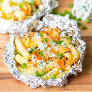 Buffalo and Blue Cheese Loaded Fries