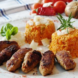 Air Fryer Chinese Kebabs & Rice