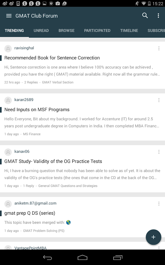 GMAT Club Forum- screenshot