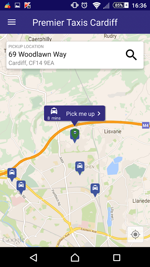 Premier Taxis Cardiff- screenshot