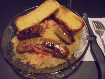 Italian Sausage & Sauerkraut - in Slow Cooker!