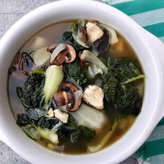 Bok Choy Chicken Garlic (Flu-Fighter) Soup.