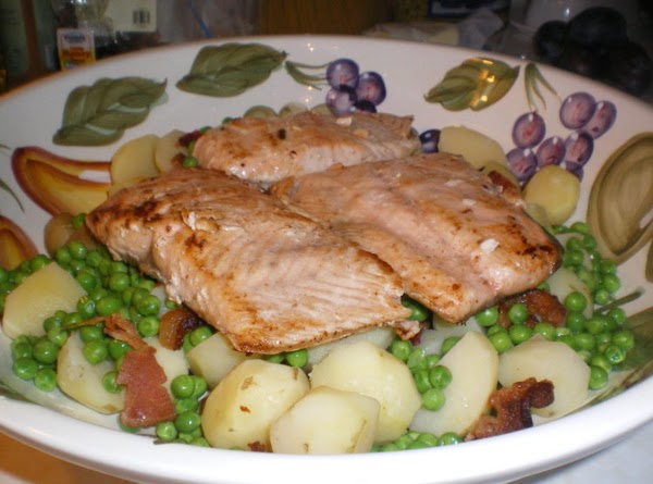 Remove your fillets from marinade and lightly coat with your olive oil. Cook salmon...