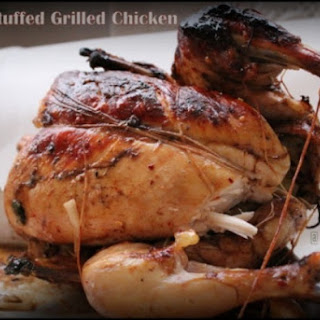 Potato Stuffed Grilled Chicken
