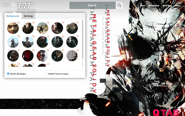 Metal Gear Solid V New Tab Wallpapers Chrome Web Store Not yet up for download. metal gear solid v new tab wallpapers