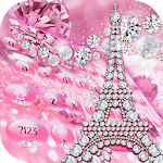 Pink Diamond Paris Tower Keyboard Theme