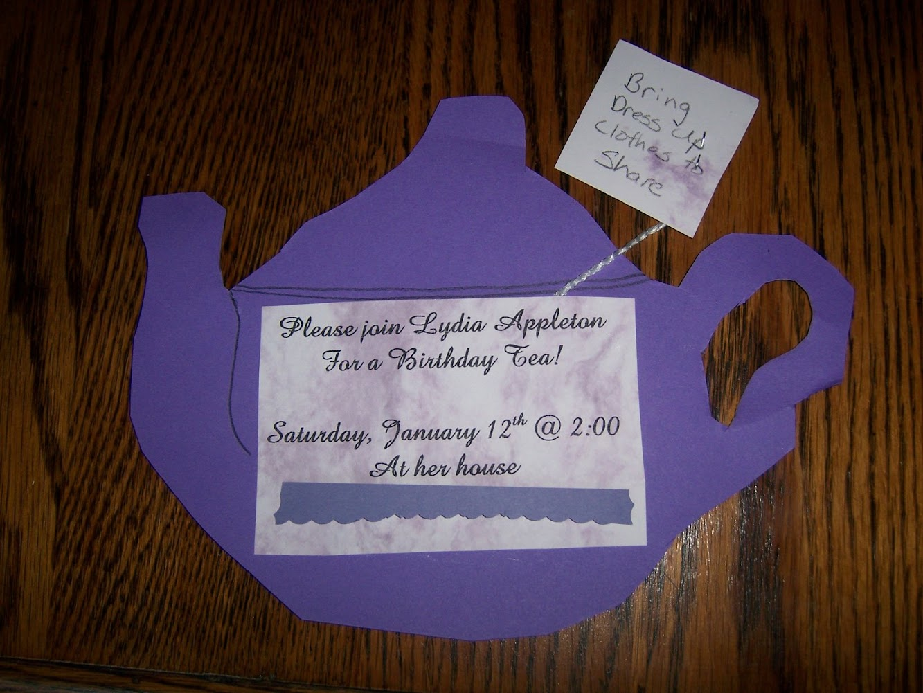The Birthday Tea Party - Invitations